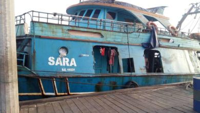 Photo of Vessel Arrested for Illegally Fishing in  Gambian Waters