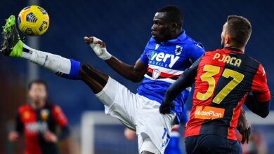 Photo of Omar Colley Goes into the Referee's Book in Cagliari Draw